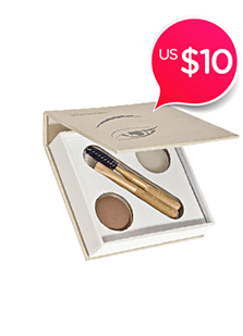 Bitty Brow Kit<br />(1x Brow Powder, 1x Brow Wax, 3x Applicator)<br />- Blonde